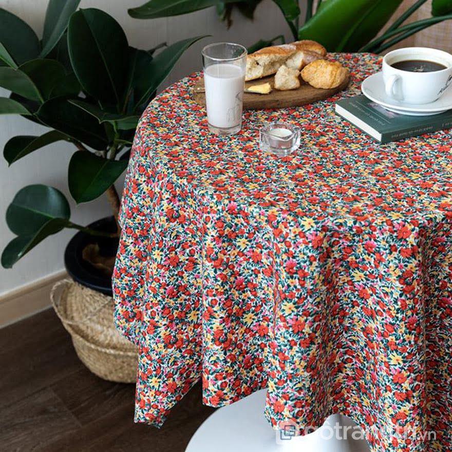 khăn trải bàn 1m8 phong cách vintage