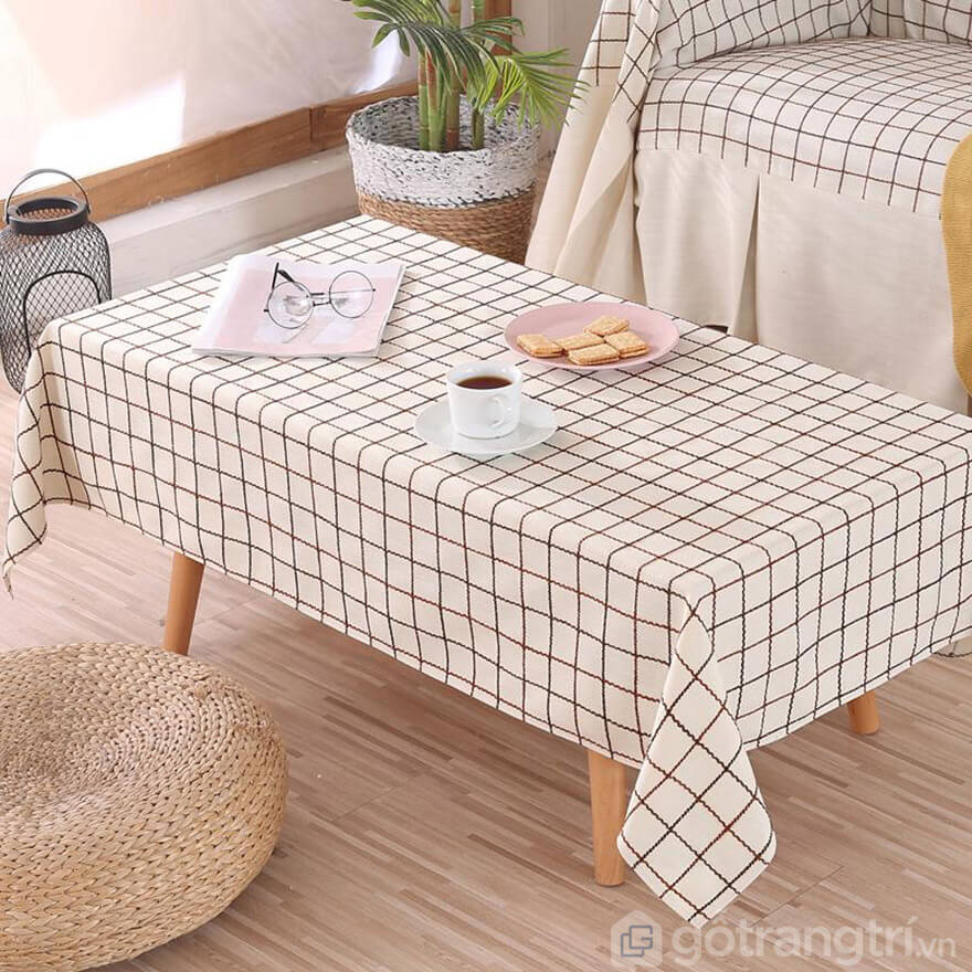 khăn trải bàn caro