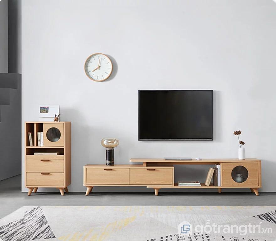mẫu kệ gỗ để tivi đẹp