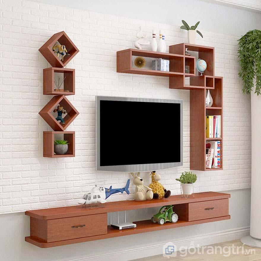 mẫu kệ tivi gắn tường