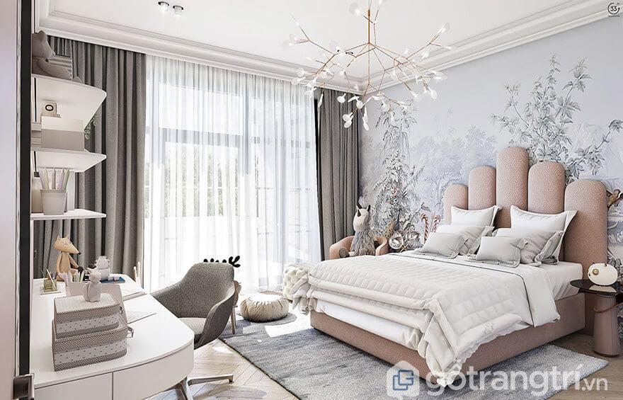 Phòng ngủ đẹp cho nữ xinh