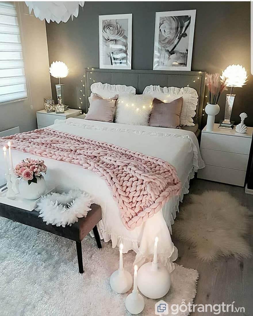 Phòng ngủ đẹp cho nữ xinh lung linh