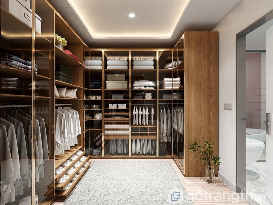 TThiết kế phòng quần áo đơn giản