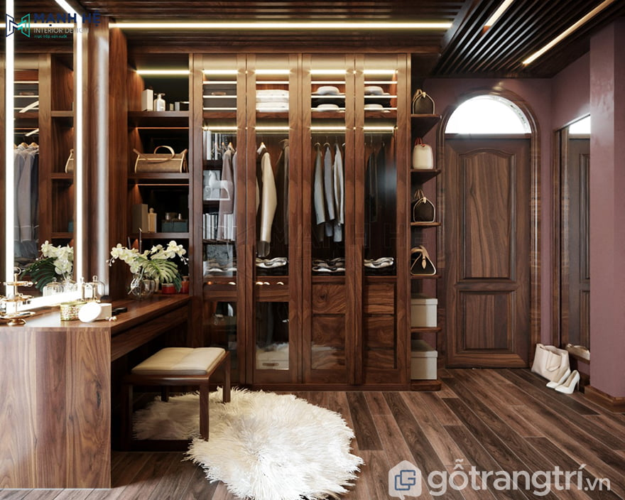 Thiết kế phòng quần áo đơn giản