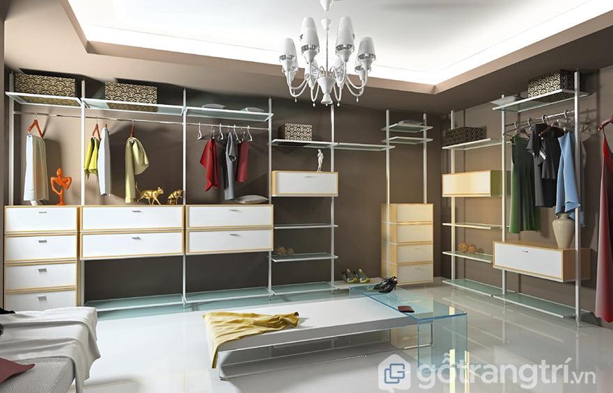 Thiết kế phòng thay đồ đơn giản