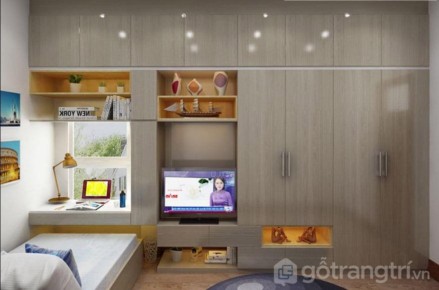 tủ âm tường kết hợp kệ tivi