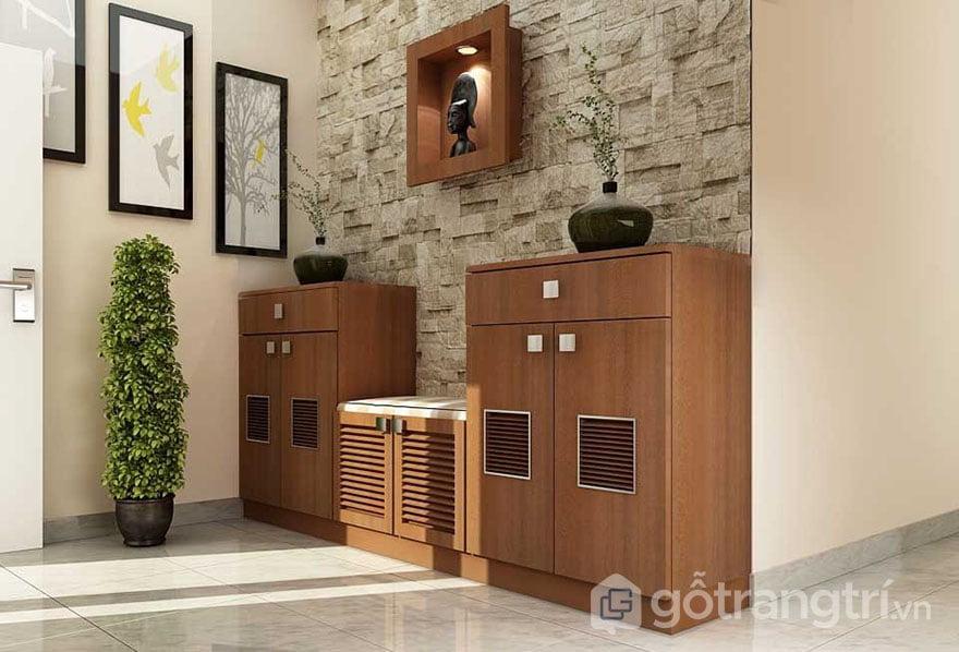 tủ giày nhựa giả gỗ