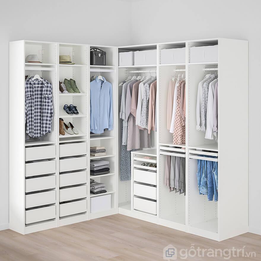 tủ quần áo gỗ MDF giá rẻ