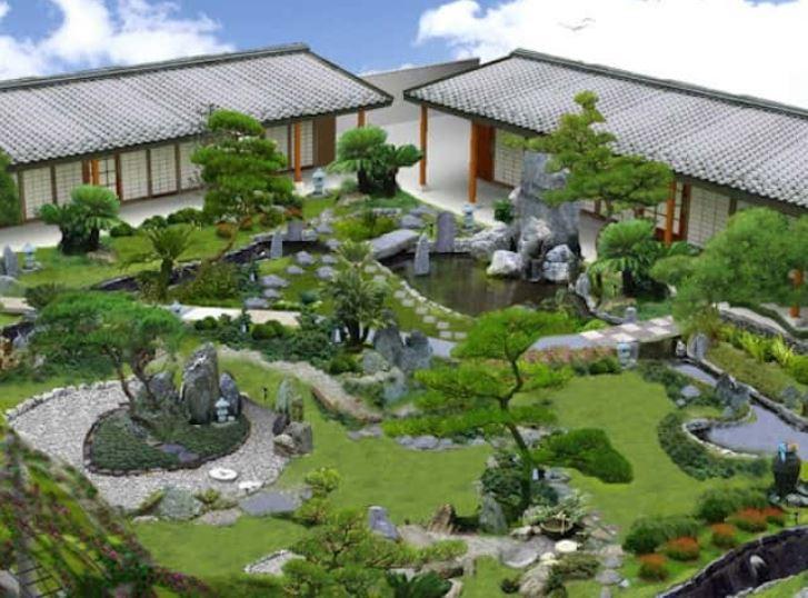 sân vườn nhỏ trước nhà cấp 4