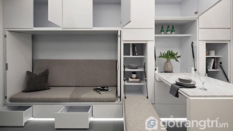 Thiết kế tủ thông minh cho nhà chật